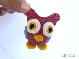 Tiny Crochet Owl