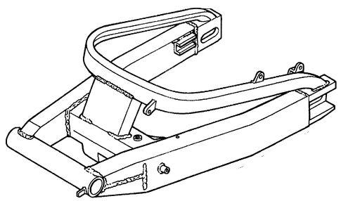 Swingarm brace install + Underslung caliper mount