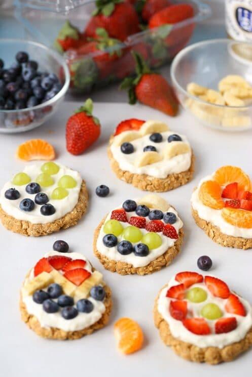 No-Bake Easter Egg Fruit Tarts