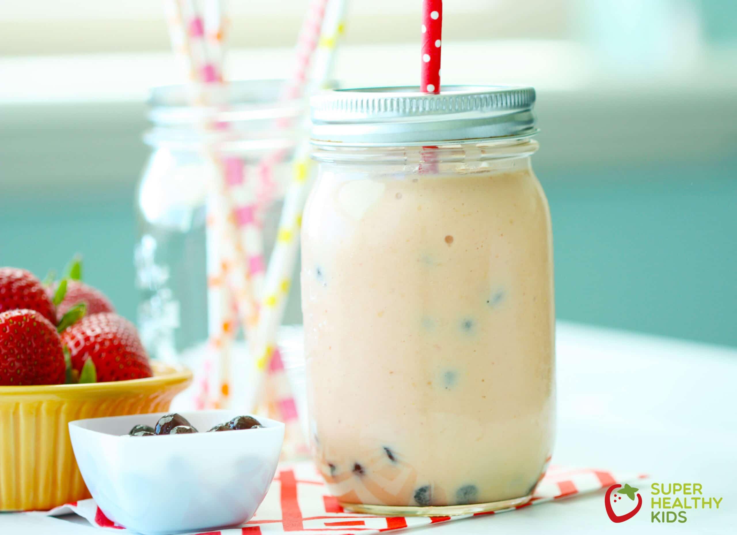 strawberry mango bubble tea