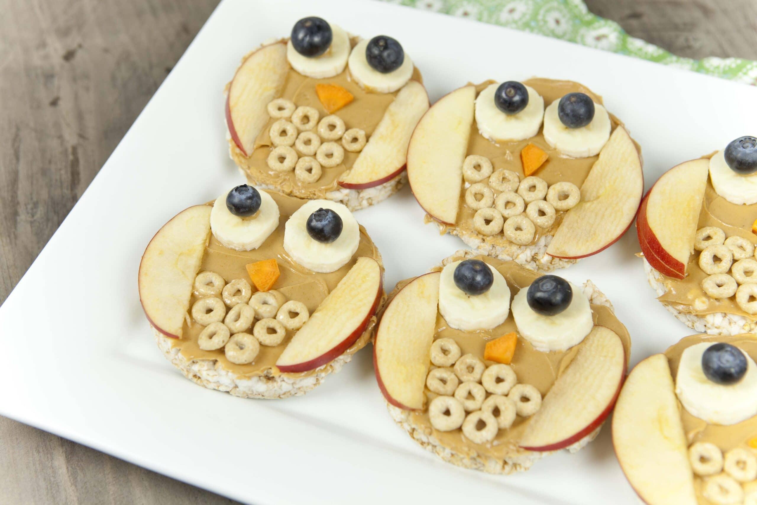 Fun Food For Kids Owl Rice Cakes