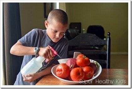 TJ Cleaning vegetables
