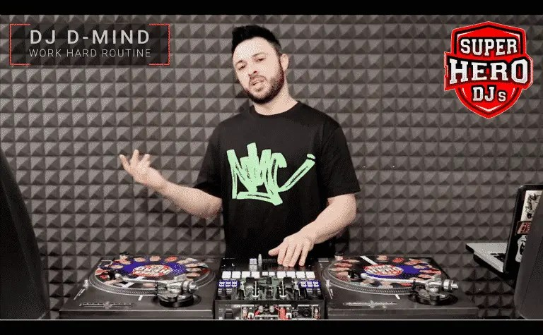 DJ D-MIND - Work Hard Routine - SUPERHERO DJs
