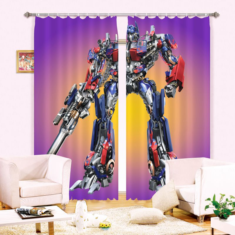 Teen Bedroom Curtain Transformers Themed  Super Heroes