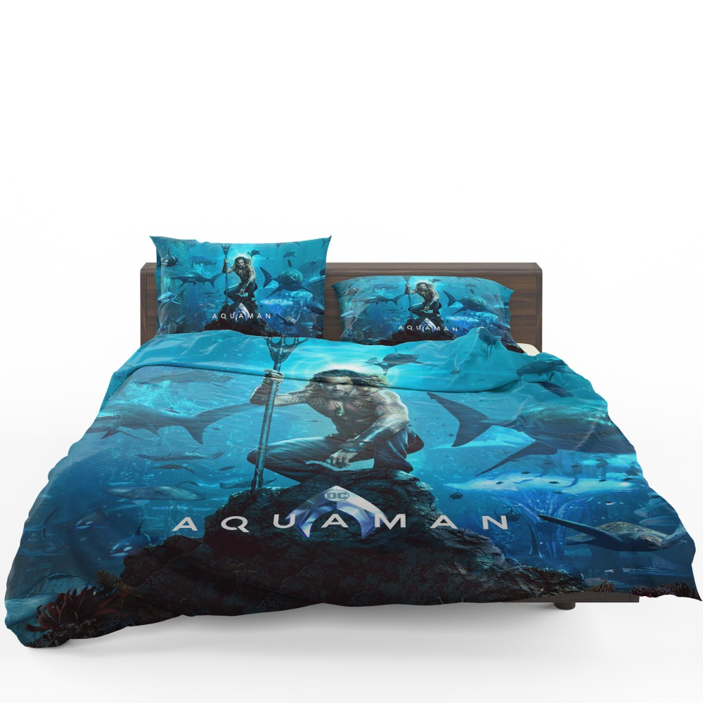 Aquaman Justice League Jason Momoa Bedding Set  Super