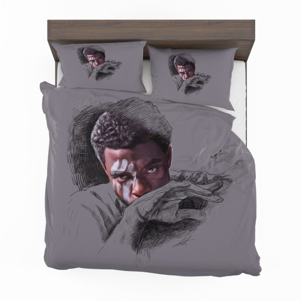T'challa Black Panther Minimal Artwork Print Bedding Set