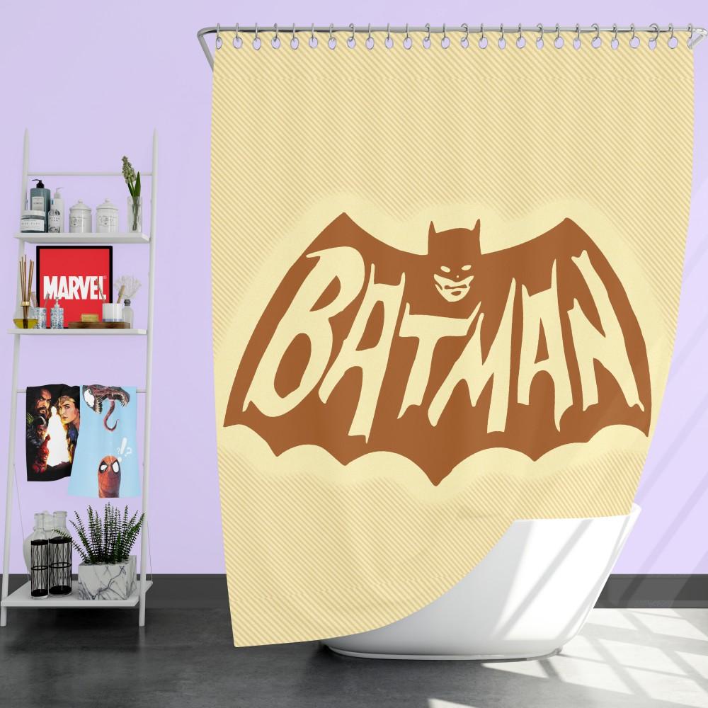 dc comics men s batman classic tv show logo shower curtain