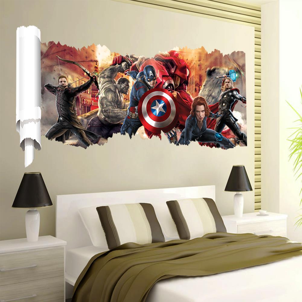 Avengers popular super hero wall decal gift movie ...