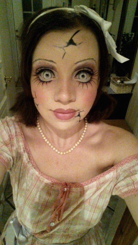 30 scary halloween makeup that look terrible horrible
