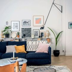 Living Room Paint Ideas Blue Couch Home Colors 21 Fresh Design To Decorate With Velvet Sofa Amazing Wall Art Gallery Full Of Color