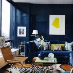Blue Furniture Living Room Flooring Ideas For 21 Fresh Design To Decorate With Velvet Sofa Dark Wall