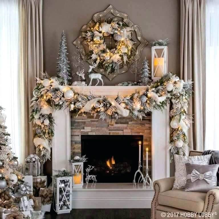 Christmas Decoration Fireplace