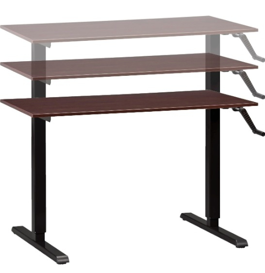 Adjustable Height Desk or Table - Black Base with Small Top