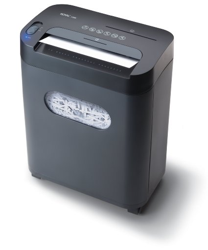 Royal 112MX 12-Sheet Cross-Cut Shredder Shreds CD's with Console