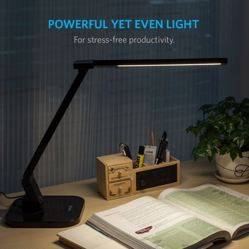 Anker Lumos LED Desk Lamp _ Table Lamp with USB Charging Port