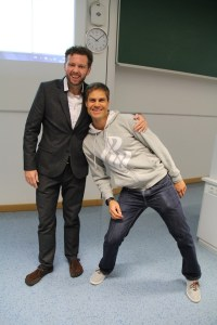 Pawel Konefal und neuer Rainer Klement (neuer Vorstand der DGPE)