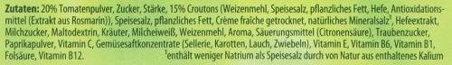 Etikett Inhaltsstoffliste
