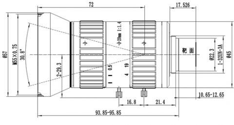 SUPERIOR SP2012MC5MP23 2/3″ 20MM F1.0 MANUAL IRIS C-MOUNT