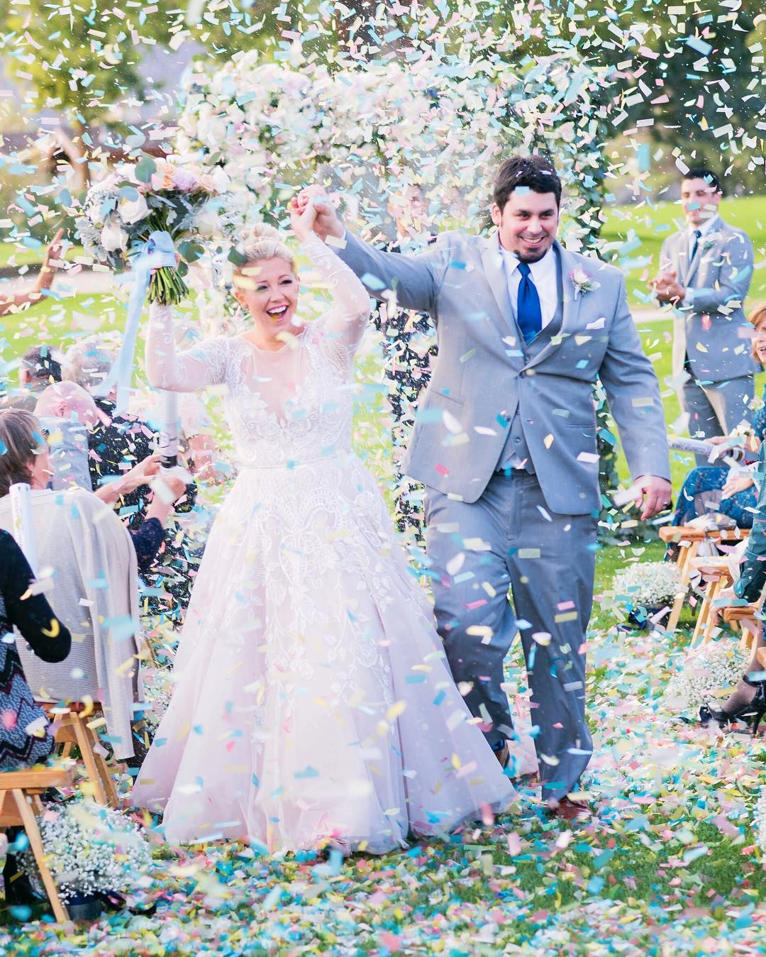 Multi Color Wedding Confetti Cannon Superior Celebrations