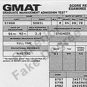 GMAT Certificate