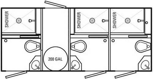Mobile Restroom & Shower Trailer for Rent in OH, WW, IN
