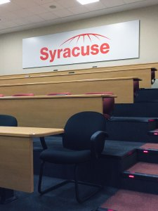 Custom Syracuse Logo Mounted to Gator Board