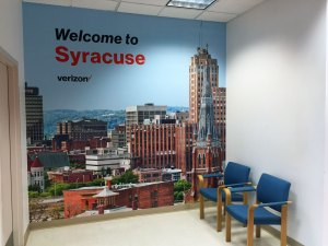 Welcome to Syracuse Wall Mural | Verizon Syracuse