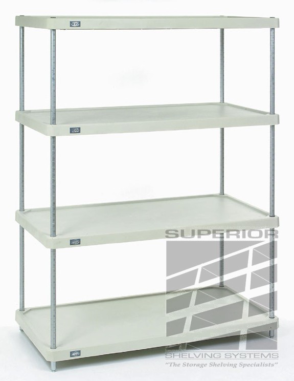 solid plastic shelving rust