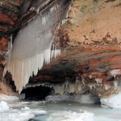Hanging Chair Clear Target Task Bayfield Ice Caves | Apostle Islands