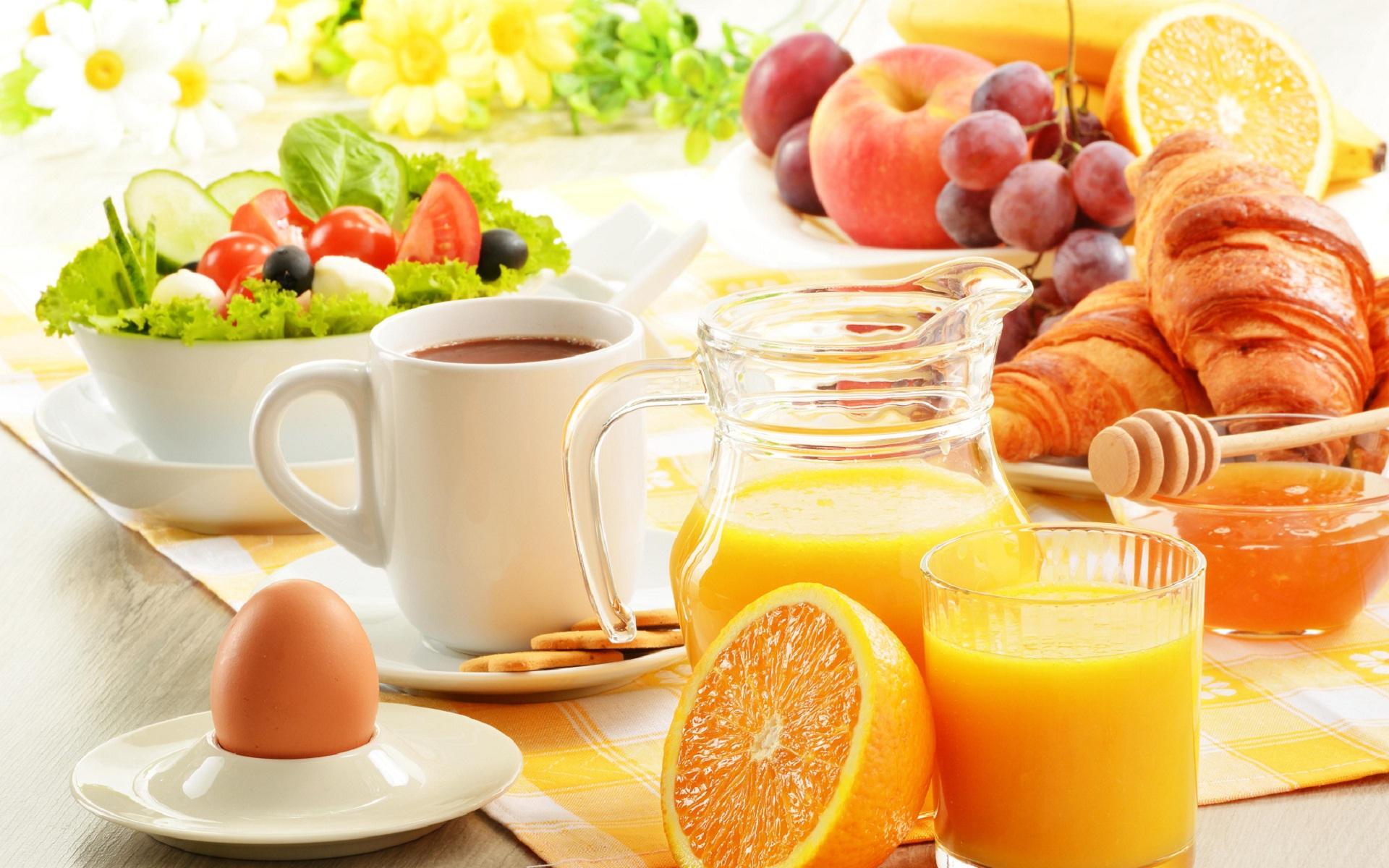 Cute Morning Coffee Wallpaper Healthy Breakfast In A Hot Summer Day