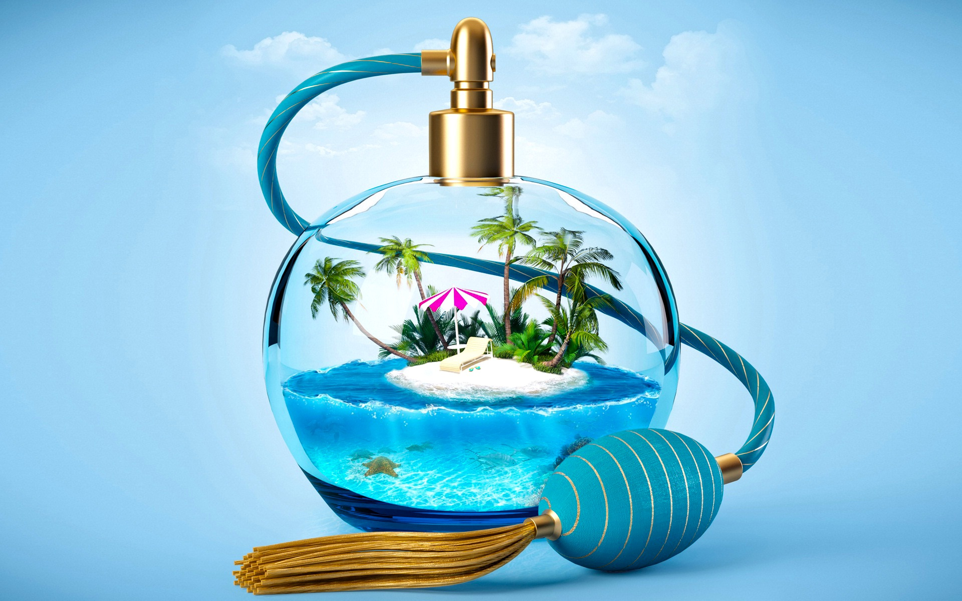 3d Animated Wallpaper Windows 8 Summer Time And Small Island In A Bottle Ingenious Perfume