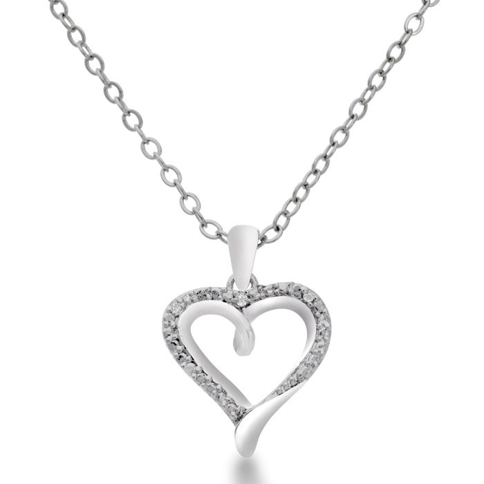 Dainty Diamond Heart Necklace