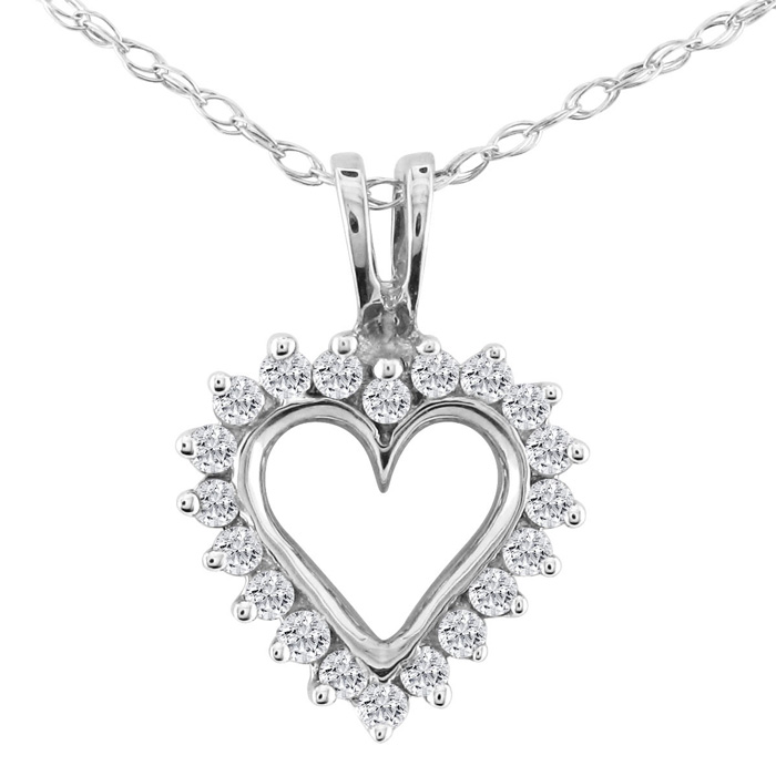 1/4ct Diamond Heart Necklace