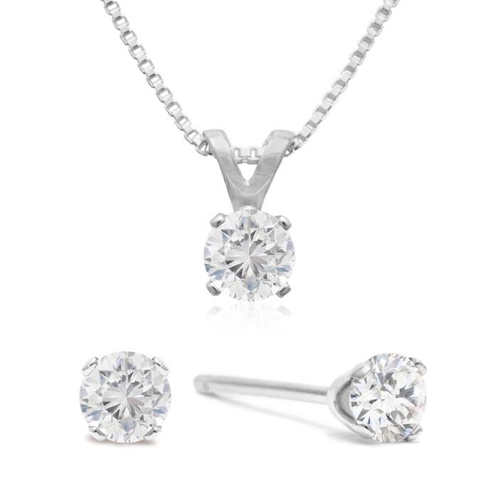 1/3ct Diamond Earrings and Pendant Set