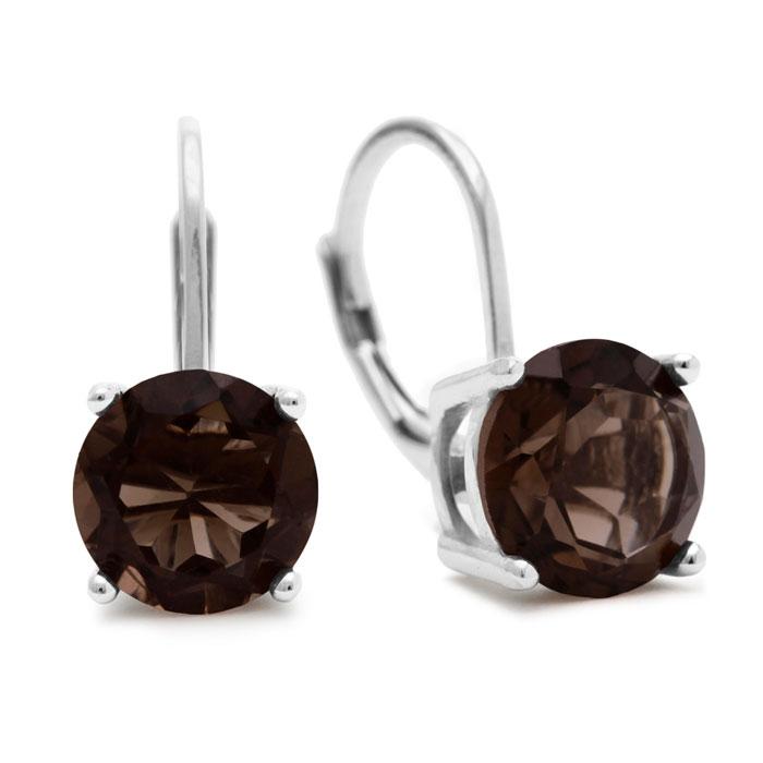 3 1/2ct Smoky Quartz Drop Earrings