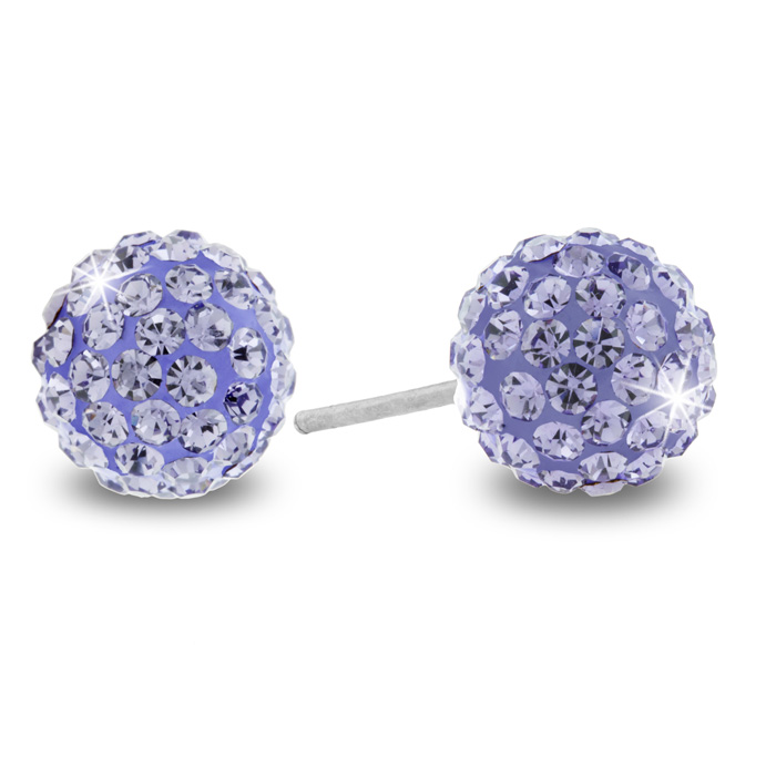 Lavender Swarovski Elements Earring