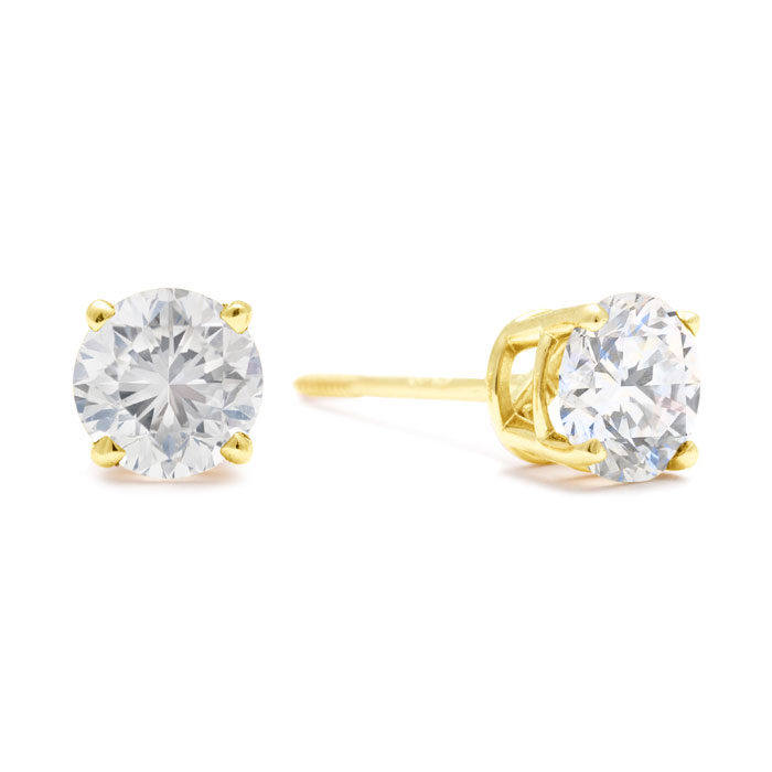 LIMITED SUPPLY! 1½ Carat Diamond Studs in 14K Yellow Gold