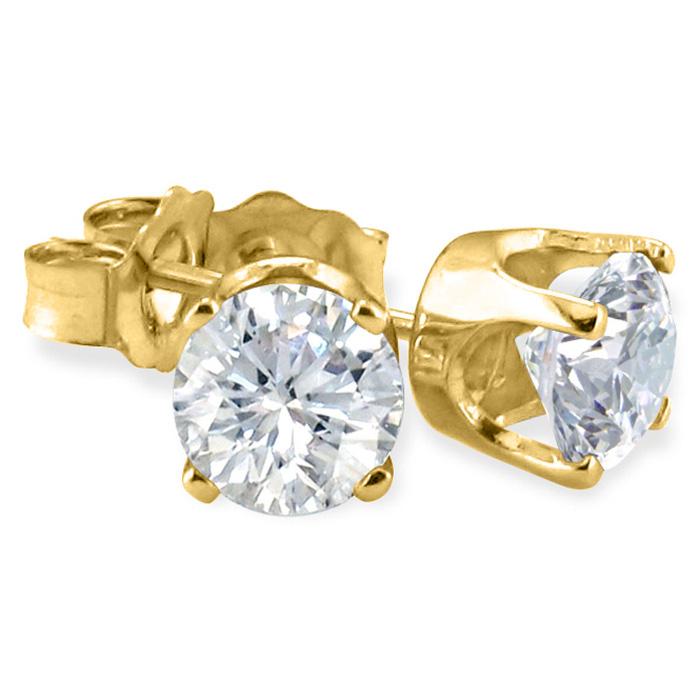 1/10ct Diamond Stud Earrings in 10k Yellow Gold