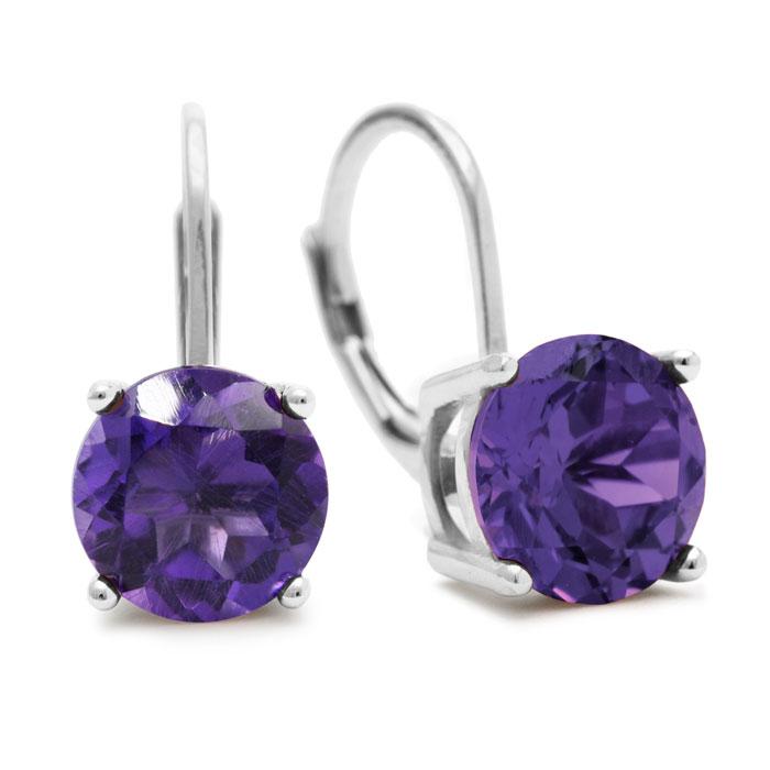 5ct Amethyst Drop Earrings
