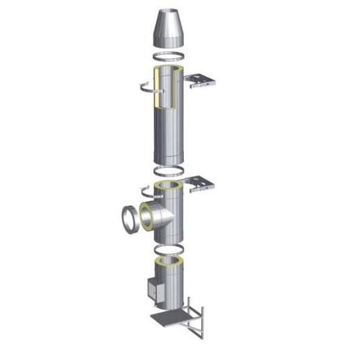 Nerezový izolovaný komín s izolací 50 mm
