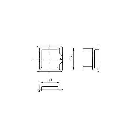 Nerezová komínová dvířka 140x140