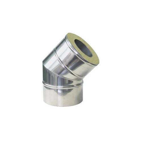 Nerezové izolované koleno 45°, izolace 50 mm