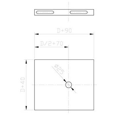 Komínová deska konzole 130 mm, pro systém s izolací 30 mm