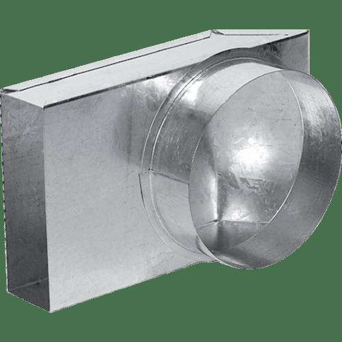Přechod 90° kanál externího vzduchu plochý – kruhový