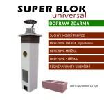 Dvouprůduchový komínový systém SUPER BLOK Universal