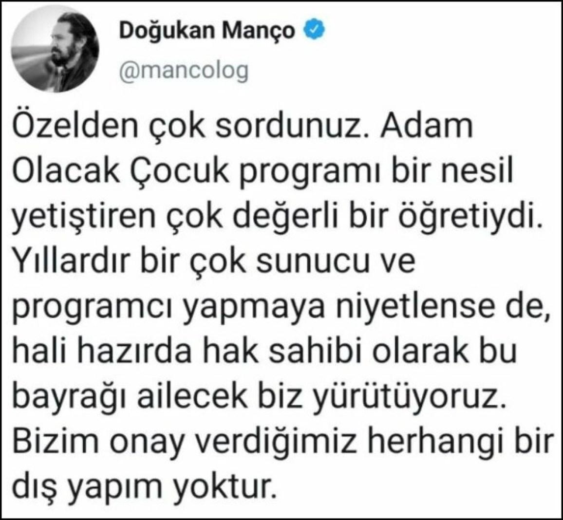 twitter 660x610 1 - Doğukan Manço'dan, Yusuf Güney'e yanıt: Kimseye onay vermedik!