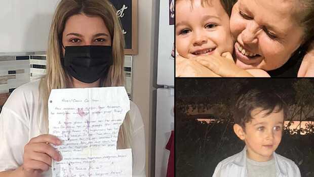 Depremde annesi ve oğlunu kaybetmişti! Enkazdan çıkan mektup ağlattı