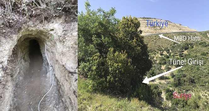 Suriye'den Türkiye istikametine kazılan tünel Mehmetçiğin dikkatinden kaçmadı