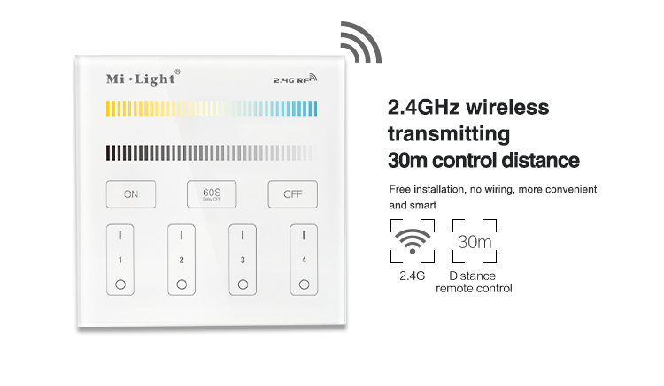 B2 4-Zone CCT Adjust Smart Panel Remote Controller For