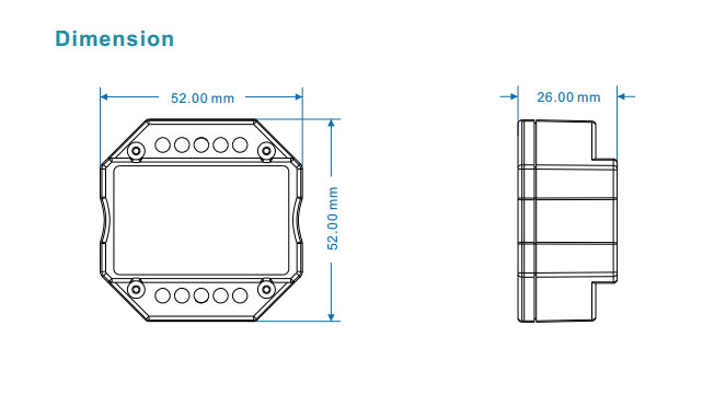 100-240VAC Triac RF Dimmer S1-B RF Push dimmer For led